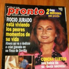 Coleccionismo de Revista Pronto: PRONTO 1295 (1.995) ROCIO JURADO - RAMONCIN - PAMELA ANDERSON Y MAS. Lote 274288358