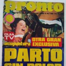 Coleccionismo de Revista Pronto: REVISTA PRONTO Nº 48 KARINA BODA RAPHAEL MARISOL. Lote 274869518