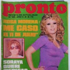 Coleccionismo de Revista Pronto: REVISTA PRONTO Nº 55 ROSA MORENA JUNIOR DAVID CASSIDY MIGUEL DE LA QUADRA SALCEDO. Lote 274905108