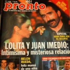 Colecionismo da Revista Pronto: PRONTO 1422 - LOLITA - BELEN RUEDA - ANTONIO BANDERAS - EL VAQUILLA -Y MAS. Lote 275169448