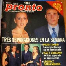 Coleccionismo de Revista Pronto: PRONTO 1414 - TRES SEPARACIONES - TONY LEBLANC - MICHAEL JACKSON -Y MAS. Lote 275169713