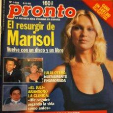 Coleccionismo de Revista Pronto: PRONTO 1409 MARISOL - ALEJANDRO SANZ - ISABEL PANTOJA Y MAS. Lote 275170123