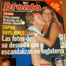 Coleccionismo de Revista Pronto: PRONTO 1413 RICKY MARTIN - ANA OBREGON - NADIUSKA Y MAS. Lote 275170323