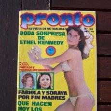 Colecionismo da Revista Pronto: PRONTO / ROCIO JURADO, SARA MONTIEL, CLAUDE FRANCOIS, THE BEATLES, MANOLO OERO, SERRAT, ANA BELEN. Lote 275269573