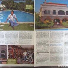 Coleccionismo de Revista Pronto: RECORTE REVISTA PRONTO N.º 1833 2007 DAVID MECA. Lote 276052648