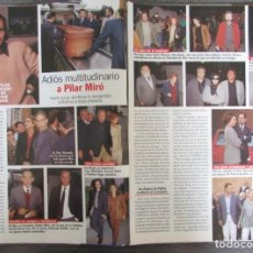 Coleccionismo de Revista Pronto: RECORTE REVISTA PRONTO N.º 1330 1997 MUERE PILAR MIRÓ 4 PGS. Lote 276052873