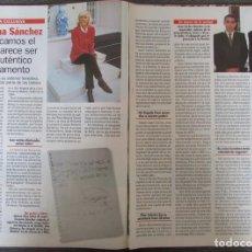 Coleccionismo de Revista Pronto: RECORTE REVISTA PRONTO N.º 1330 1997 ENCARNA SÁNCHEZ. NATALIA ESTRADA. Lote 276052943