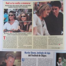 Coleccionismo de Revista Pronto: RECORTE REVISTA PRONTO N.º 1330 1997 RAÚL GONZÁLEZ, MARTIN SHEEN. Lote 276053188