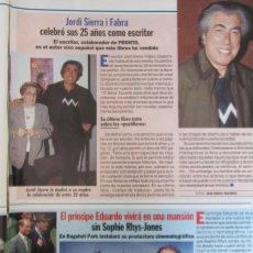 Coleccionismo de Revista Pronto: RECORTE REVISTA PRONTO N.º 1330 1997 JORDI SIERRA I FABRA. Lote 276053253