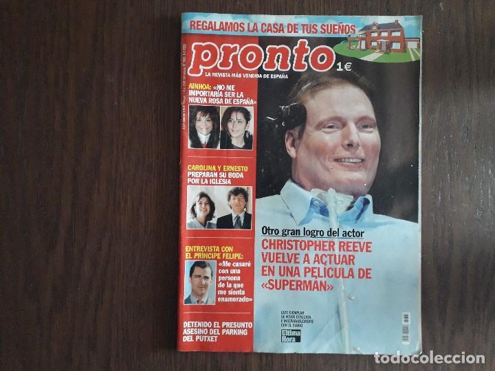 REVISTA PRONTO, NÚMERO 1605, 08-02-2003. CHRISTOPHER REEVE, VUELVE A ACTUAR EN SUPERMAN. (Papel - Revistas y Periódicos Modernos (a partir de 1.940) - Revista Pronto)