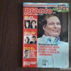 Coleccionismo de Revista Pronto: REVISTA PRONTO, NÚMERO 1605, 08-02-2003. CHRISTOPHER REEVE, VUELVE A ACTUAR EN SUPERMAN.. Lote 276091093