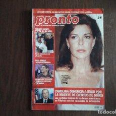 Coleccionismo de Revista Pronto: REVISTA PRONTO, NÚMERO 1603, 25-01-2003. CAROLINA DENUNCIA A BUSH POR LA MUERTE DE NIÑOS.. Lote 276091228