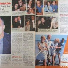 Coleccionismo de Revista Pronto: RECORTE REVISTA PRONTO N.º 1543 2001 JOSÉ CORONADO. Lote 276123338