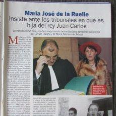 Coleccionismo de Revista Pronto: RECORTE REVISTA PRONTO N.º 1610 2003 MARÍA JOSÉ DE LA RUELLE. ANDRÉS PAJARES Y MARI CIELO. Lote 276161583