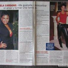 Coleccionismo de Revista Pronto: RECORTE REVISTA PRONTO N.º 1610 2003 DANIELA CARDONE 3 PGS. Lote 276161623