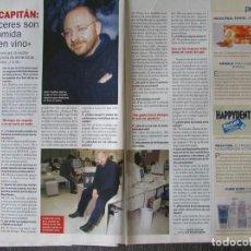 Coleccionismo de Revista Pronto: RECORTE REVISTA PRONTO N.º 1610 2003 JAVIER CAPITÁN.. Lote 276161943