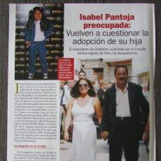 Coleccionismo de Revista Pronto: RECORTE REVISTA PRONTO N.º 1638 2003 ISABEL PANTOJA. Lote 276162493