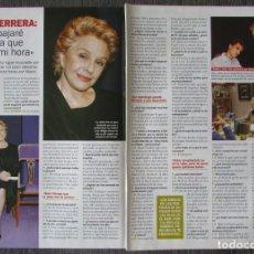 Coleccionismo de Revista Pronto: RECORTE REVISTA PRONTO N.º 1638 2003 LOLA HERRERA. EL ASESINO DE LA BARAJA. Lote 276162663