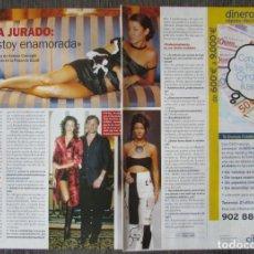 Coleccionismo de Revista Pronto: RECORTE REVISTA PRONTO N.º 1638 2003 MARÍA JURADO, ANDREA CASIRAGHI. Lote 276162753