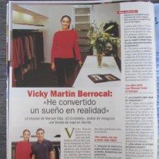 Coleccionismo de Revista Pronto: RECORTE REVISTA PRONTO N.º 1538 2001 VICKY MARTÍN BERROCAL.. Lote 276163273