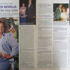 Coleccionismo de Revista Pronto: RECORTE REVISTA PRONTO N.º 1537 2001 CARMEN SEVILLA. ISABEL GEMIO. Lote 276163578