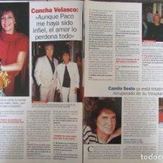Coleccionismo de Revista Pronto: RECORTE REVISTA PRONTO N.º 1537 2001 CONCHA VELASCO, CAMILO SESTO.. Lote 276163693
