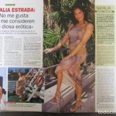 Coleccionismo de Revista Pronto: RECORTE REVISTA PRONTO N.º 1537 2001 NATALIA ESTRADA 3 PGS. Lote 276163728
