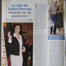 Coleccionismo de Revista Pronto: RECORTE REVISTA PRONTO N.º 1611 2003 ISABEL PANTOJA.. Lote 276164033