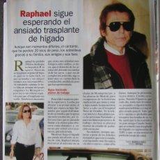 Coleccionismo de Revista Pronto: RECORTE REVISTA PRONTO N.º 1611 2003 RAPHAEL. Lote 276164113