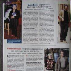 Coleccionismo de Revista Pronto: RECORTE REVISTA PRONTO N.º 1611 2003 LUCÍA BOSÉ. PIERCE BROSNAN. Lote 276164168