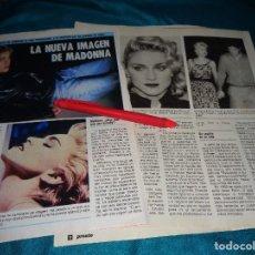 Coleccionismo de Revista Pronto: RECORTE : LA NUEVA IMAGEN DE MADONNA. PRONTO, AGTO 1986(#). Lote 277559703