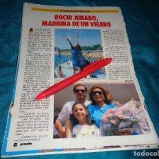 Coleccionismo de Revista Pronto: RECORTE : ROCIO JURADO, MADRINA DE UN VELERO. PRONTO, AGTO 1986(#). Lote 277561063