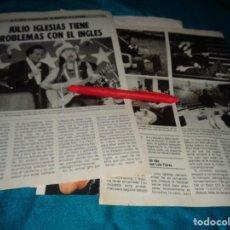 Coleccionismo de Revista Pronto: RECORTE : JULIO IGLESIAS, TIENE PROBLEMAS CON EL INGLES. PRONTO, AGTO 1986(#). Lote 277561193
