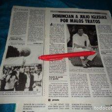 Coleccionismo de Revista Pronto: RECORTE : DENUNCIAN A JULIO IGLESIAS POR MALOS TRATOS. PRONTO, SPTMBRE 1986(#). Lote 277561983