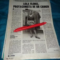 Coleccionismo de Revista Pronto: RECORTE : LOLA FLORES, EN LA PELICULA EL CRIMEN DE LOS GALINDOS. PRONTO, SPTMBRE 1986(#). Lote 277562063