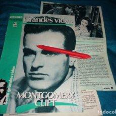 Coleccionismo de Revista Pronto: RECORTE : GRANDES VIDAS : MONTGOMERY CLIFT. CAP. 3. PRONTO, SPTMBRE 1986(#). Lote 277562358