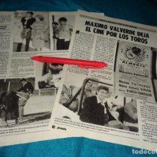 Coleccionismo de Revista Pronto: RECORTE : MAXIMO VALVERDE, DEJA EL CINE POR LOS TOROS. PRONTO, SPTMBRE 1986(#). Lote 277562438