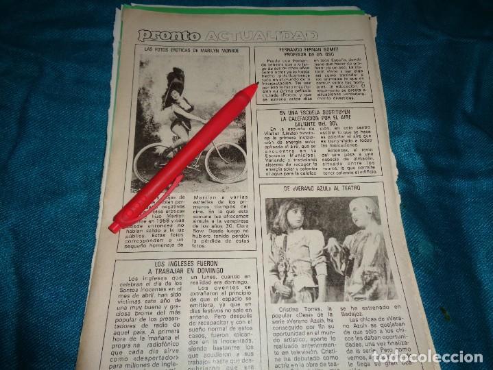 RECORTE : LAS FOTOS EROTICAS DE MARILYN MONROE. PRONTO, ABRIL 1984 (#) (Papel - Revistas y Periódicos Modernos (a partir de 1.940) - Revista Pronto)