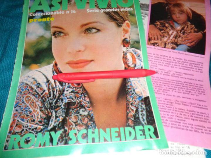 RECORTE : ASI VIVIO : ROMY SCHNEIDER. CAP. 14. PRONTO, ABRIL 1984 (#) (Papel - Revistas y Periódicos Modernos (a partir de 1.940) - Revista Pronto)