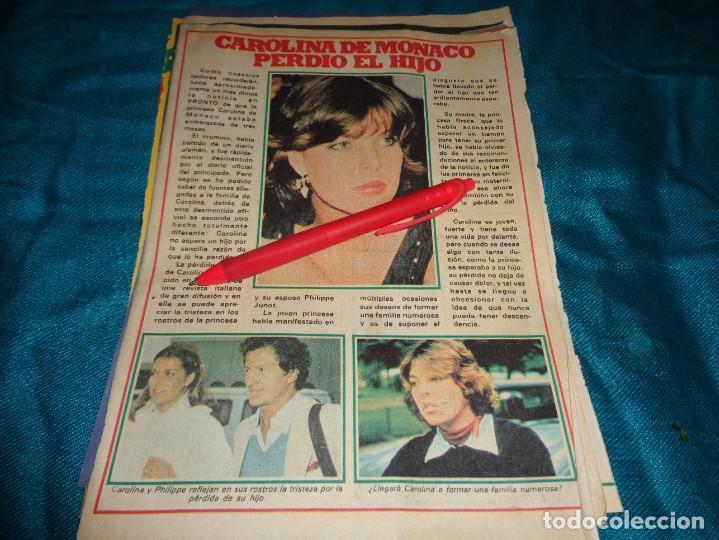 RECORTE : CAROLINA DE MONACO, PIERDE EL HIJO. PRONTO, OCTBRE 1978 (#) (Papel - Revistas y Periódicos Modernos (a partir de 1.940) - Revista Pronto)