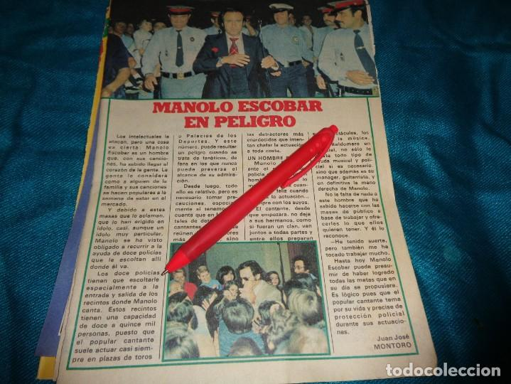RECORTE : MANOLO ESCOBAR, EN PELIGRO. PRONTO, OCTBRE 1978 (#) (Papel - Revistas y Periódicos Modernos (a partir de 1.940) - Revista Pronto)