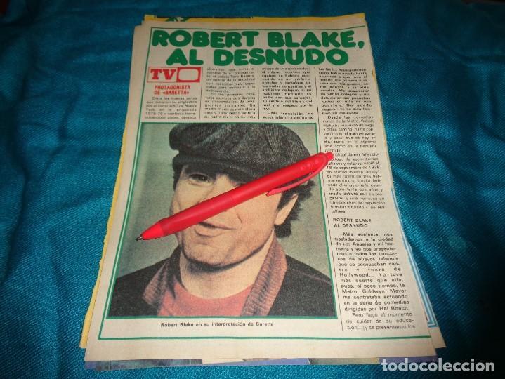 RECORTE : ROBERT BLAKE, DE LA SERIE BARETTA. PRONTO, OCTBRE 1978 (#) (Papel - Revistas y Periódicos Modernos (a partir de 1.940) - Revista Pronto)