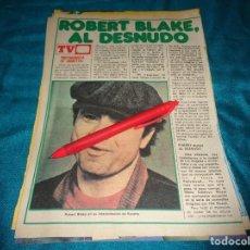 Coleccionismo de Revista Pronto: RECORTE : ROBERT BLAKE, DE LA SERIE BARETTA. PRONTO, OCTBRE 1978 (#). Lote 277691008