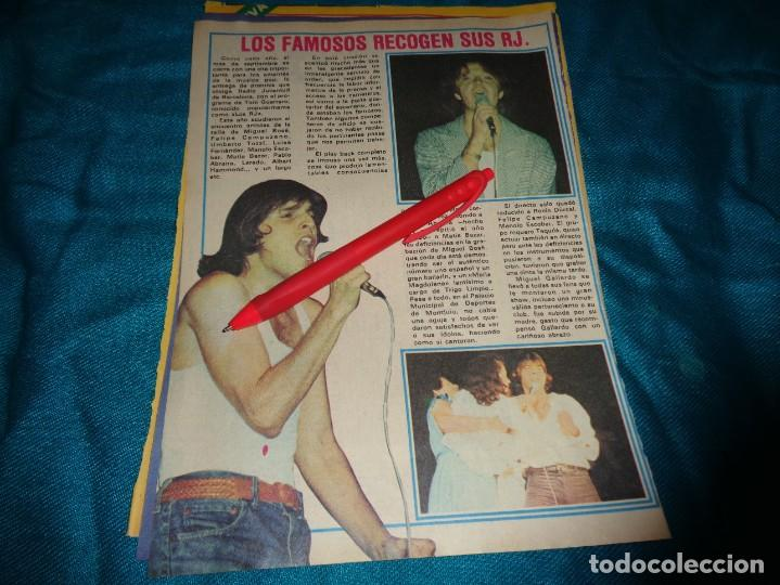 RECORTE : FAMOSOS RECOGEN SUS RJ : MIGUEL BOSÉ, UMBERTO TOZZI.... PRONTO, OCTBRE 1978 (#) (Papel - Revistas y Periódicos Modernos (a partir de 1.940) - Revista Pronto)