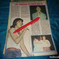 Coleccionismo de Revista Pronto: RECORTE : FAMOSOS RECOGEN SUS RJ : MIGUEL BOSÉ, UMBERTO TOZZI.... PRONTO, OCTBRE 1978 (#). Lote 277691138