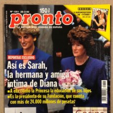 Coleccionismo de Revista Pronto: PRONTO N° 1351 (1998). CON POSTER TITANIC (DICAPRIO WINSLET), EVA COBO, BANDERAS, EL FARY, RAMAZZOTT. Lote 277748938