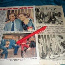 Coleccionismo de Revista Pronto: RECORTE : DUO JULIO IGLESIAS-MIGUEL BOSÉ. PRONTO, DCMBRE 1981(#). Lote 278602878