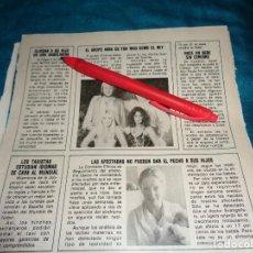 Coleccionismo de Revista Pronto: RECORTE : EL GRUPO ABBA, LOS MAS RICOS. PRONTO, DCMBRE 1981(#). Lote 278603093