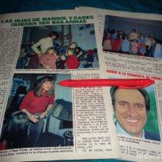 Coleccionismo de Revista Pronto: RECORTE : LAS HIJAS DE MARISOL Y GADES QUIEREN SER BAILARINAS. PRONTO, DCMBRE 1981(#). Lote 278603218