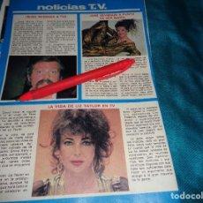 Coleccionismo de Revista Pronto: RECORTE : JANE SEYMOUR. IÑIGO. LIZ TAYLOR. PRONTO, DCMBRE 1981(#). Lote 278603323